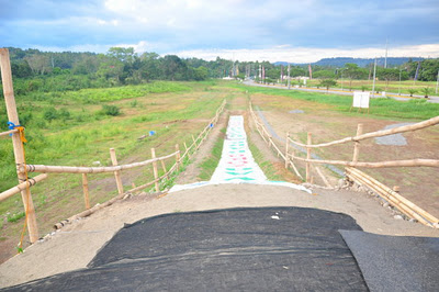 View of the ramp from the top